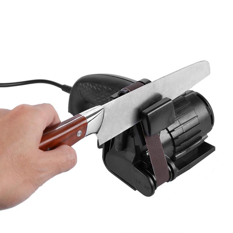 Professional Knife Sharpener Home Kitchen Tool Scissors Sharpening Machine Sanding Belt Automatic Grinding Electric Sharpener