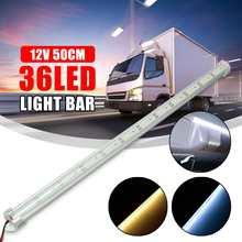 2×50 см алюминий 36 светодио дный LED SMD 5630 интерьер свет полосы бар лампы для дома Автомобиля Караван прицепы Ван Теплый Холодный белый