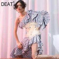 DEAT 2019 new spring high waist wide belts ruffles diamond stone sexy female Waist seal heavy work WE89900