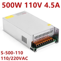 1PCS 500W 110VDC 230V input 110V Power Supply 110V 4.5A AC to DC High power switching power supply