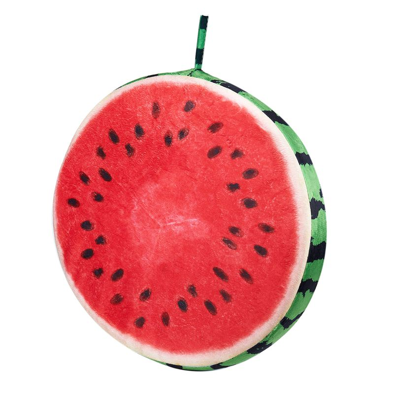 Red Creative 3d Fruit Personality Cushion For Leaning On Sofa Watermelon Pillow Case Birthday Gift 40x7cm Diversified Latest Designs