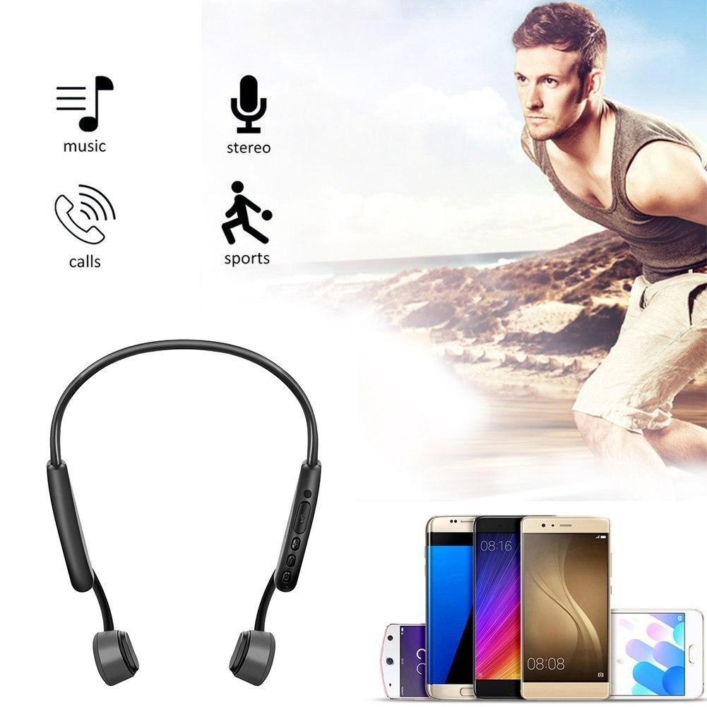 Tenquinze Z8 casque de conduction osseuse Bluetooth appel de musique casque de sport conduction osseuse après suspension casque de sport - 4