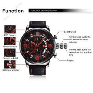 Image 4 - Mini Focus Sport Horloge Voor Mannen Luxe Casual Chronograaf Horloges Quartz Heren Horloge Lederen Top Merk Luxe Militaire
