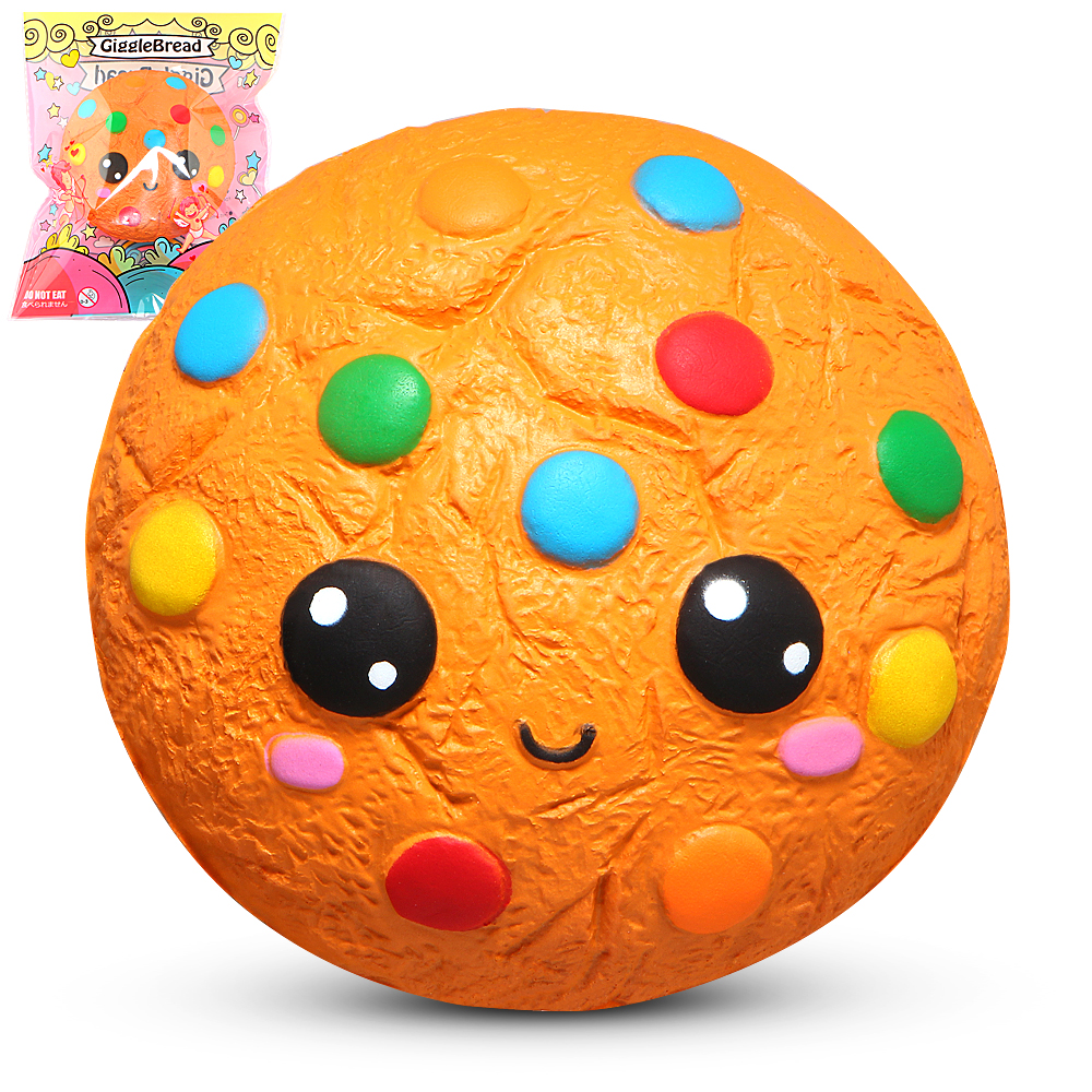 Jumbo Squishy Chocolate Cookie Squishies Cream Scented Slow Rising Stress Relief Toy Phone Strap