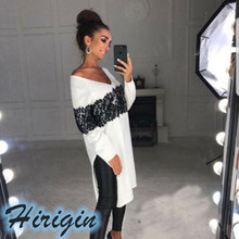 Summer Women Clothes 2019 New Casual Woman Long Sleeve V-neck White Jumper Pullover Long No Cap Tops double v neck fluted sleeve jumper