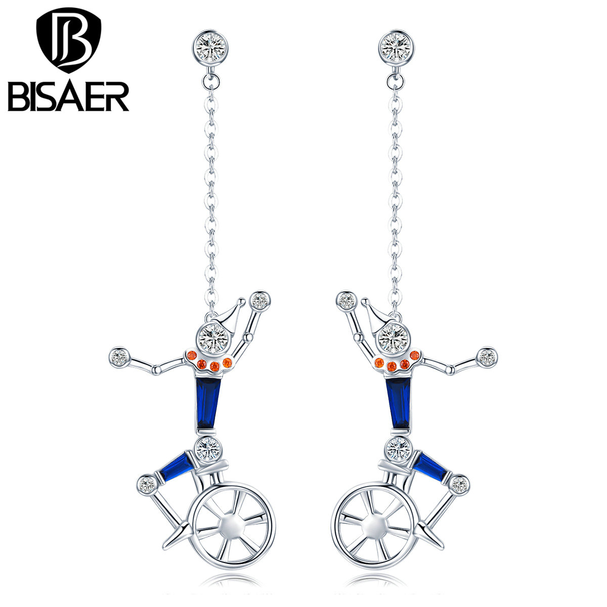 Bisaer New Collection Trendy Silver The Little Man On The