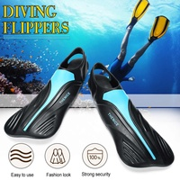 34 45 TPR Swim Fins Adult Swimming Dive Diving Snorkeling Long Diving Flippers Snorkeling Shoes Swim Fins Foot with Heel
