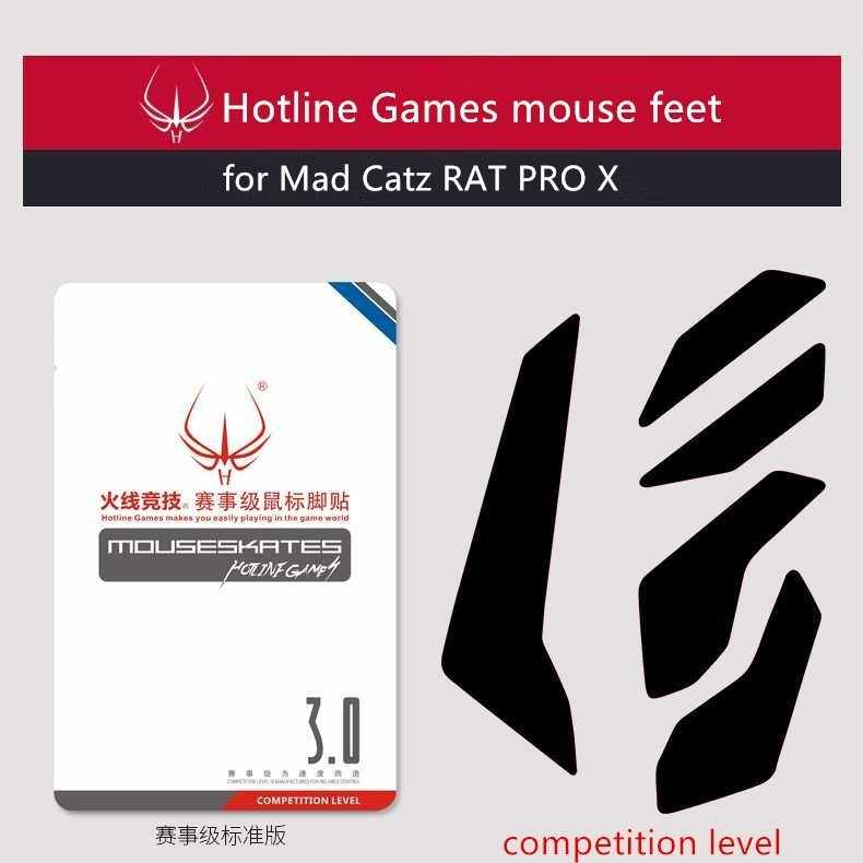 2019 Новое поступление 1 упаковка Горячая линия Игры соревнования уровень мышь коньки мышь ноги для Mad Catz RAT PRO X тефлоновые, для мыши glide