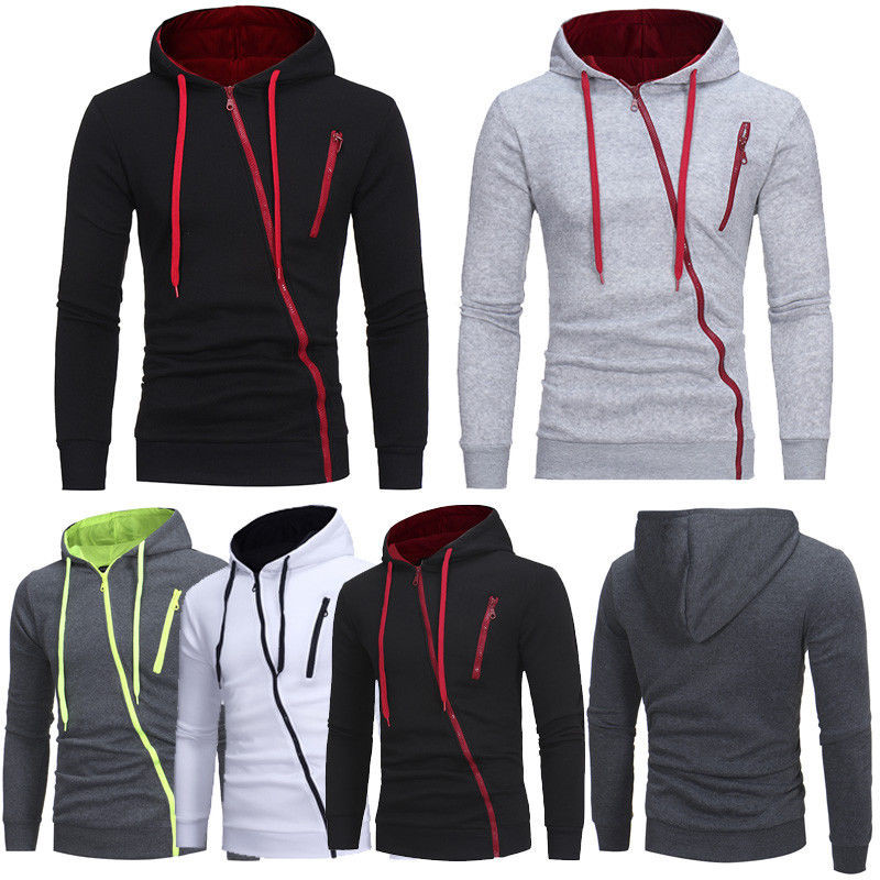 Mens Plain Hoodie Hooded Sweatshirt Pullover Tracksuit Sweater Tops Size M-3XL