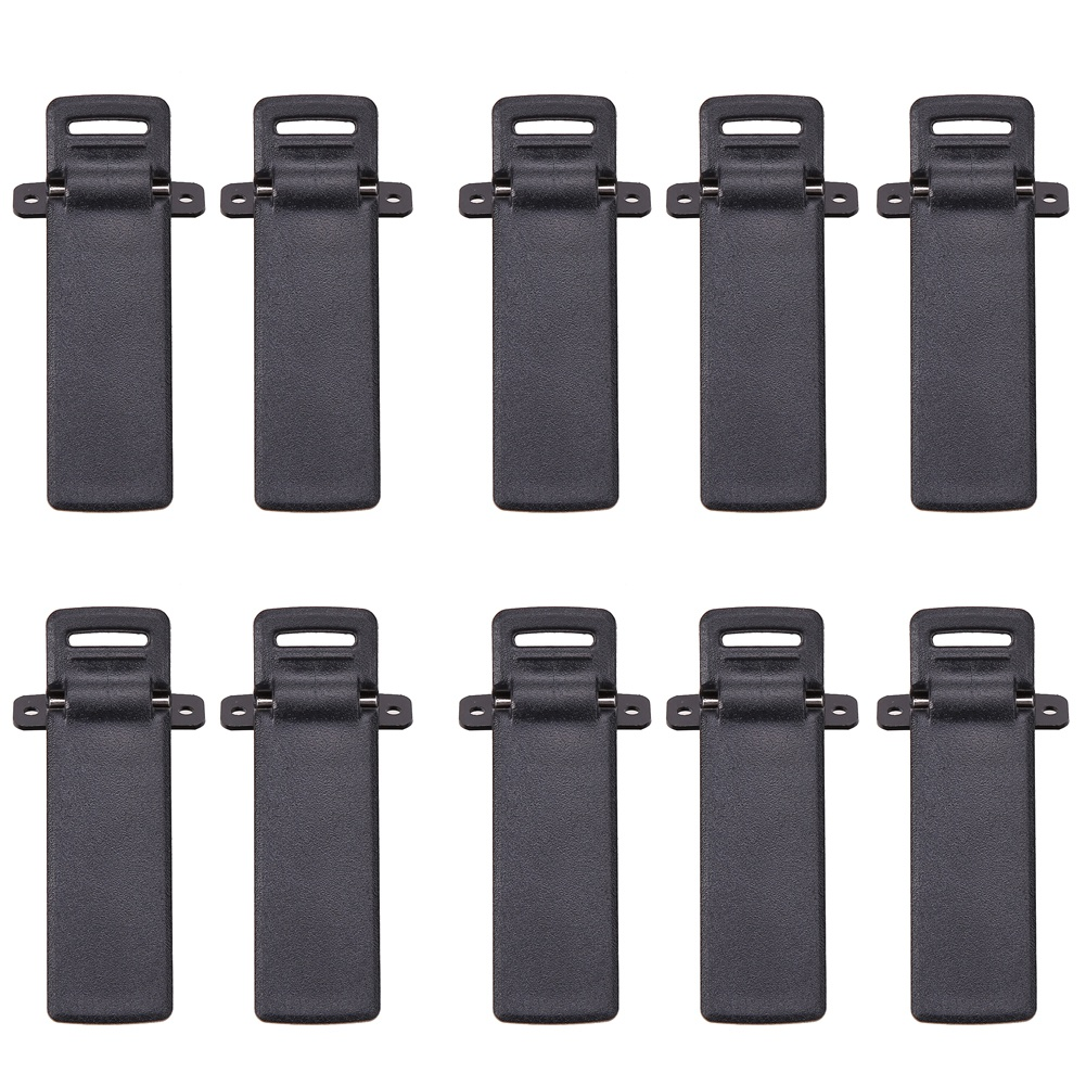 10Pcs Walkie Talkie Clamps Spare Part Back Belt Clip For Baofeng 2-way Radio UV5R For Baofeng Intercom UV5R / 5RA / 5R + / 5RB