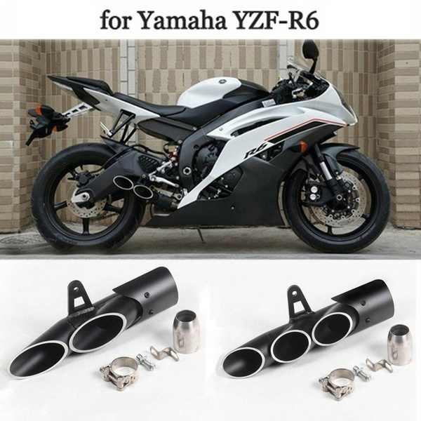 Universal Black Rustproof Dual-Outlet Motorcycle Part Tail Components  Exhaust Pipe Modification Accessories