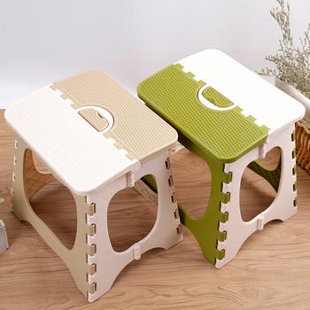 Plastikowe krzesła składane stołek łazienka mała ławka wc przenośne składane krzesła duże rozmiary składane krzesła na zewnątrz tanie i dobre opinie Z tworzywa sztucznego 27 5*23*24cm Green Khaki Foldable Portable Fashionable