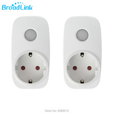 Wi-Fi Smart Timer Plug 2 Packs Mini Domotic, BroadLink Wireless Socket Outlet Home Automation, Compatible with Alexa Google home wall socket home security alexa compatible surge protection zigbee home automation solution smart metering plug