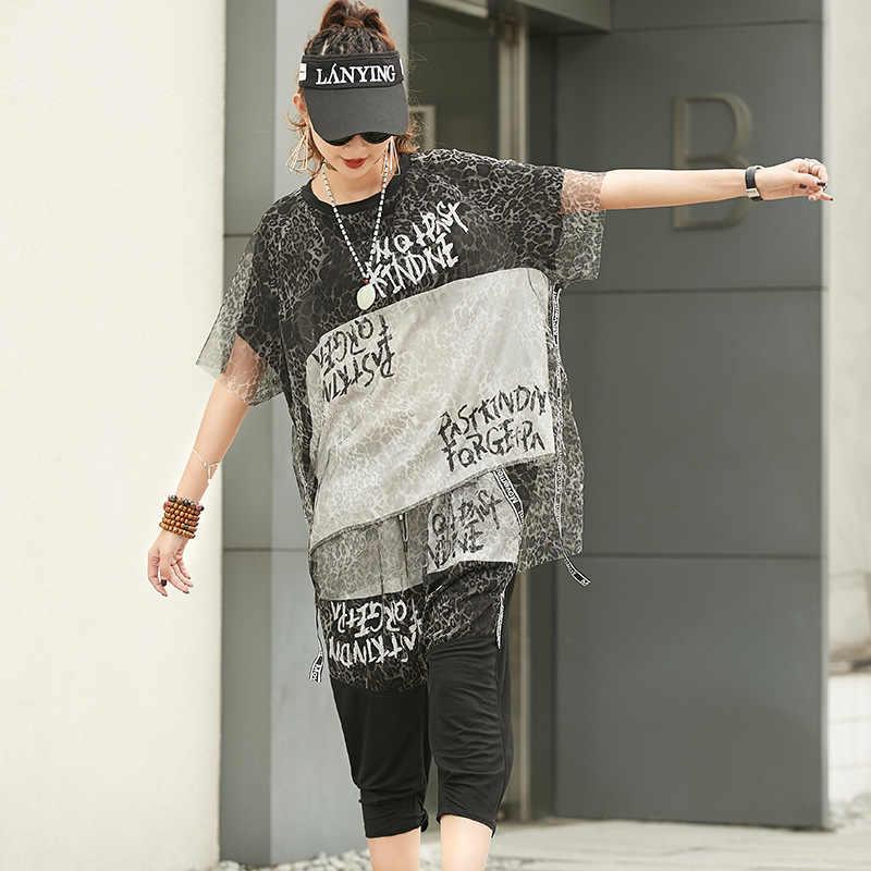 Max LuLu летние Роскошные корейские леопардовые Женские топы и штаны, женские сексуальные комплекты из двух предметов, наряды с принтом, винтажная одежда