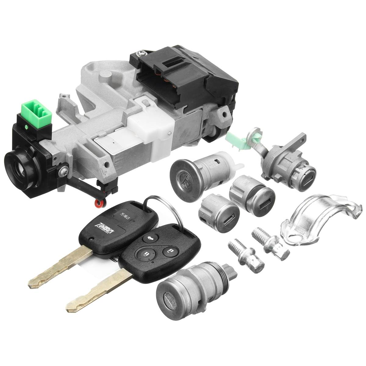 Ignition Switch Cylinder <font><b>Door</b></font> Lock Full Set w/Trans Key For Honda/Accord <font><b>2006</b></font> 2007 for <font><b>Civic</b></font> /Odyssey /Fit image