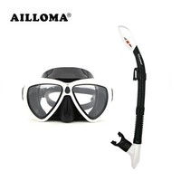 AILLOMA Camera Mask Snorkel Set Tube Diver Glasses Eyewear Silicone Waterproof Underwater Adult Diving Equipment Goggles Sets