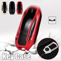 Fashion Aluminium Alloy+zinc alloy Car Key Case Bag Auto Key For Tesla Model X