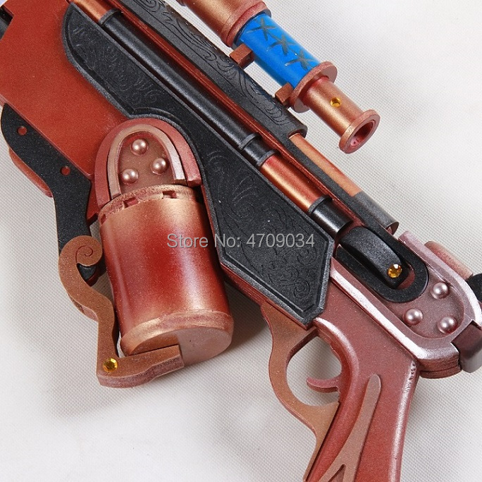 a183cb43402 US $127.3 5% OFF|Overwatch Halloween Terror Ana Amari Skin Corsair Weapon  Cosplay Replica Gun Prop-in Costume Props from Novelty & Special Use on ...