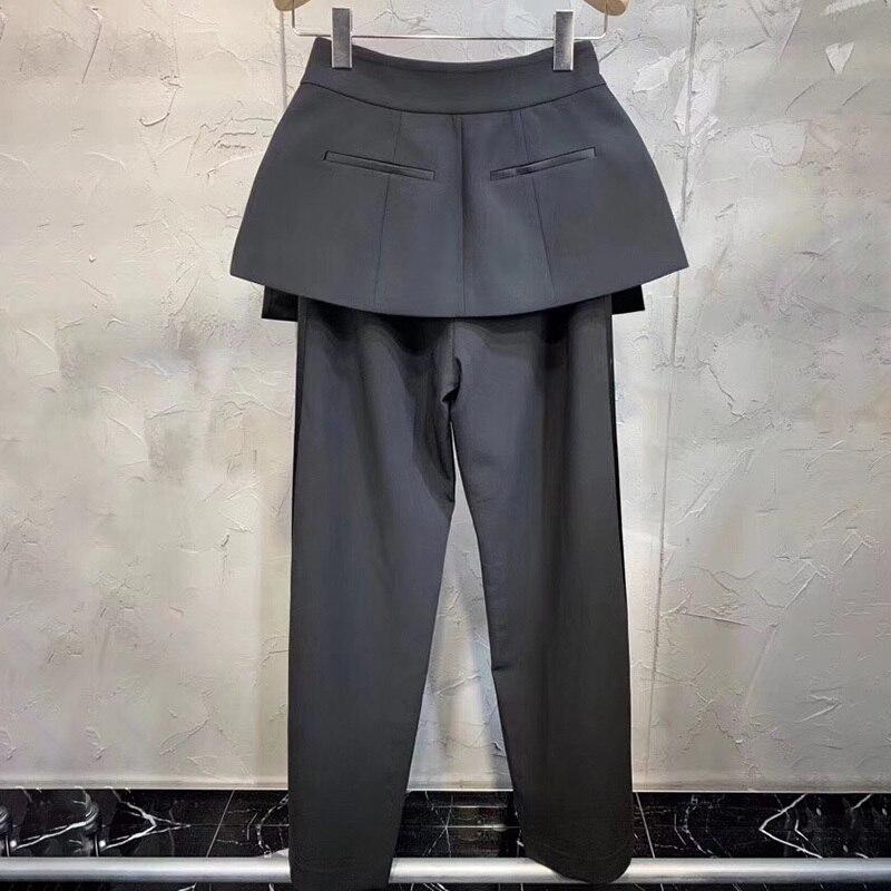 Hit Taille 2019 Twotwinstyle Black Large Jambe Pantalon Printemps De Lâche Vêtements Pantalons Avec Les Ceinture Pour Pants Femmes Élégantes Couleurs Haute 6wFqAB