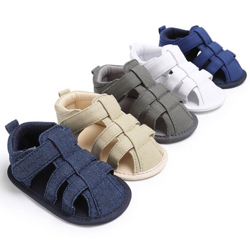 Pudcoco Boy Sandals 0-18M Toddler Kids Baby Boys Soft Sole Crib Sneakers Newborn Sandals Shoes
