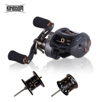 Kingdom 2019 Hot High Quality Fishing Reel Double Spool 6.51 High Speed Baitcasting Reel Ultralight 12+1 Ball Bearings Fishing