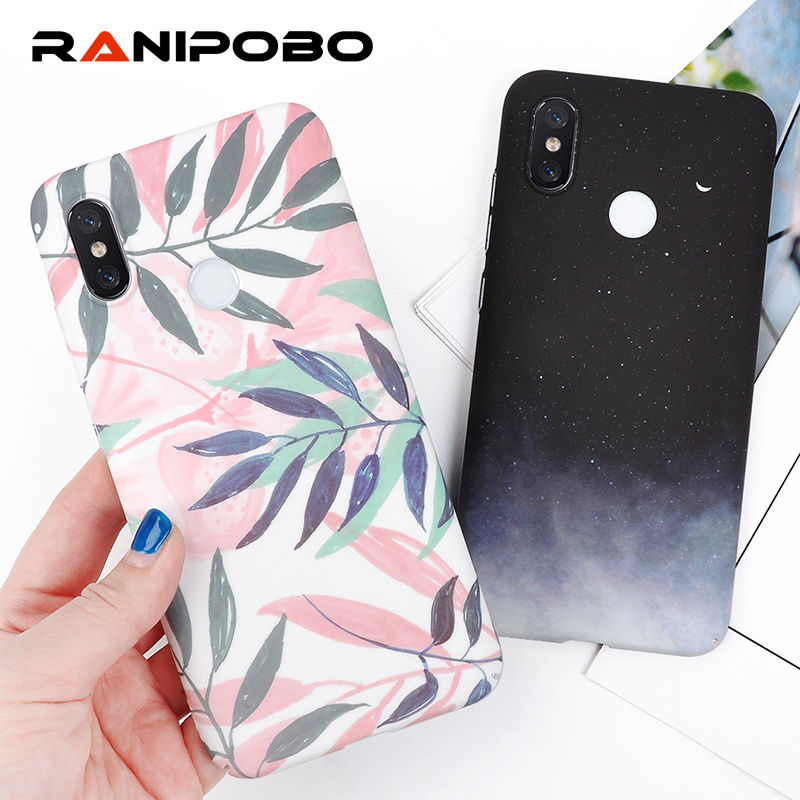 Cool Vintage Leaves Print Star Sky Hard PC Phone Case For Xiaomi 6X 8 8SE 8 Lite Fashion Hot Matte Protection Back Cover