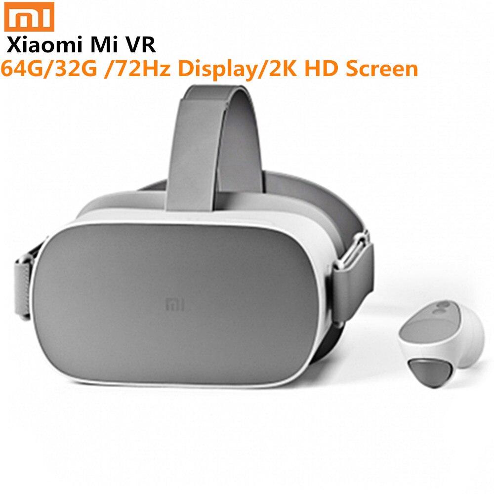 Xiao mi mi VR Autonome Tout En Un VR Lunettes 64G Soutien Oculus 72Hz Affichage 2 K HD écran Avec Télécommande 3D VR Casque
