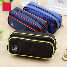 Kawaii Cute Solid Color Canvas Large-capacity Pencil Case School Student Supplies Pen Box Bag Stationery Storage 05174