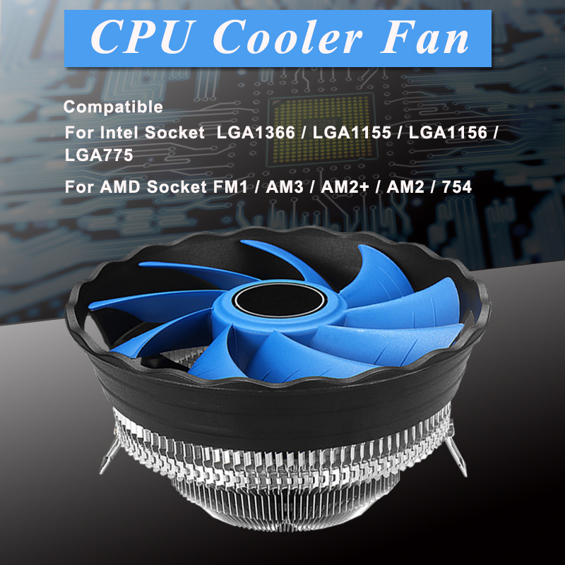 Hohe qualität CPU Kühler Heatpipe Lüfter 12 cm Kühler Aluminium Kühlkörper Intel LGA 775/1366/115X AMD FM1/AM2 +/AM3/AM2/754