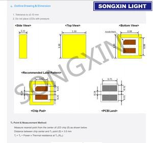 Image 2 - 1000PCS עבור SAMSUNG LED 1313 טלוויזיה יישום LED תאורה אחורית 3W 3V CSP מגניב לבן LCD תאורה אחורית עבור טלוויזיה טלוויזיה יישום