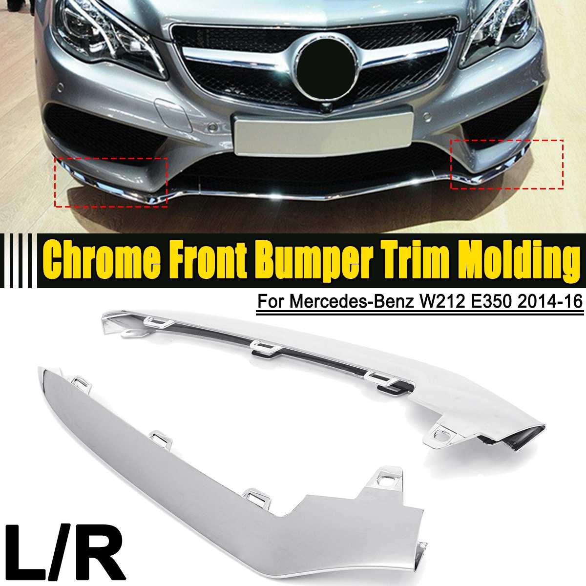 3PCS Front Bumper Chrome Trim Molding for Mercedes W205 C300 C350 C200 2014-2017