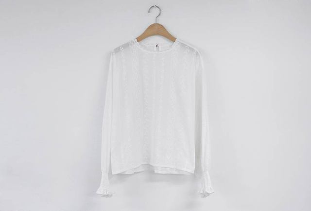 Embroidery Lace Shirt Spring femme Casual white Tops Women Long sleeve Linen Cotton Girls Blouse Plus Size Women Blouses femme 5