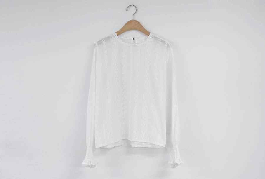 刺繍レースシャツ春ファムトップス女性長袖リネン綿女の子ブラウスプラスサイズの女性ブラウスファム