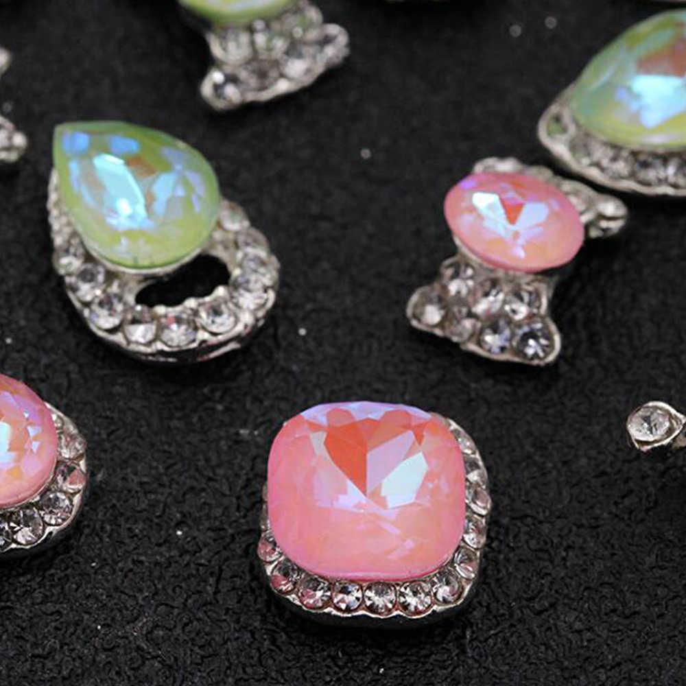 1 коробка сплав для маникюра художественные украшения кристалл роскошный горный хрусталь Драгоценные камни шарф с подвеской Размер 3d-украшения для ногтей аксессуары инструменты CH782