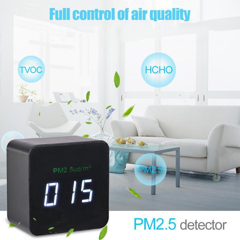 Mini Portable intelligent qualité de l'air PM2.5 moniteur détecteur analyseur de gaz testeur de qualité de l'air moniteur Laser PM2.5 détecteur testeur
