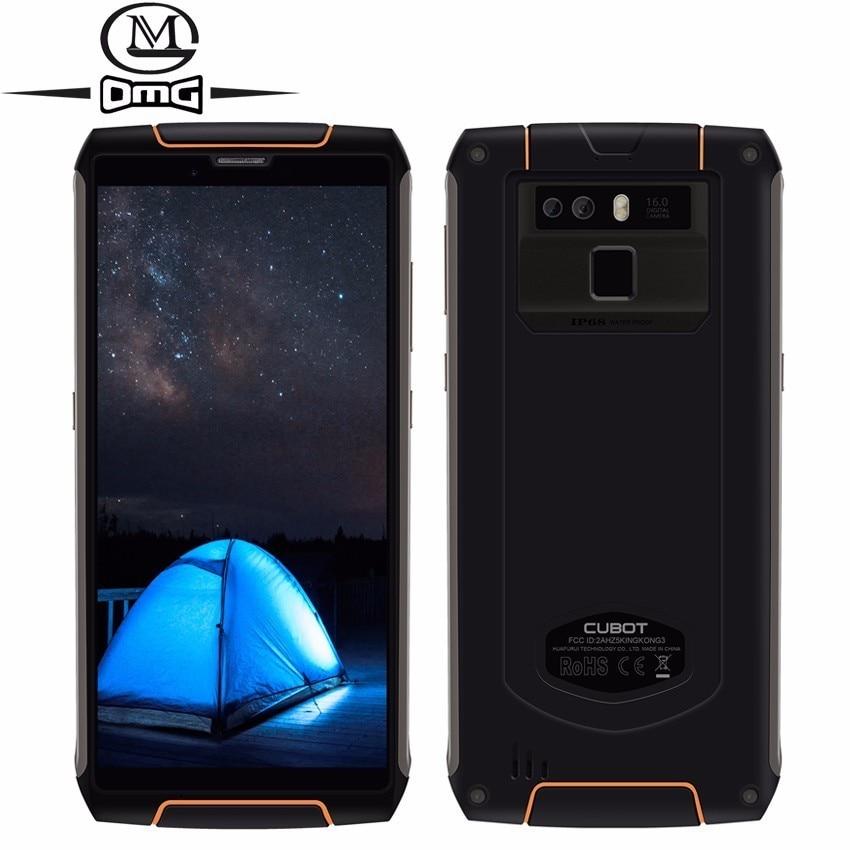 Cubot King Kong 3 IP68 étanche antichoc 4G Smartphone Android 8.1 4 GB + 64 GB Octa Core 5.5 ''6000 mAh 16MP téléphone portable
