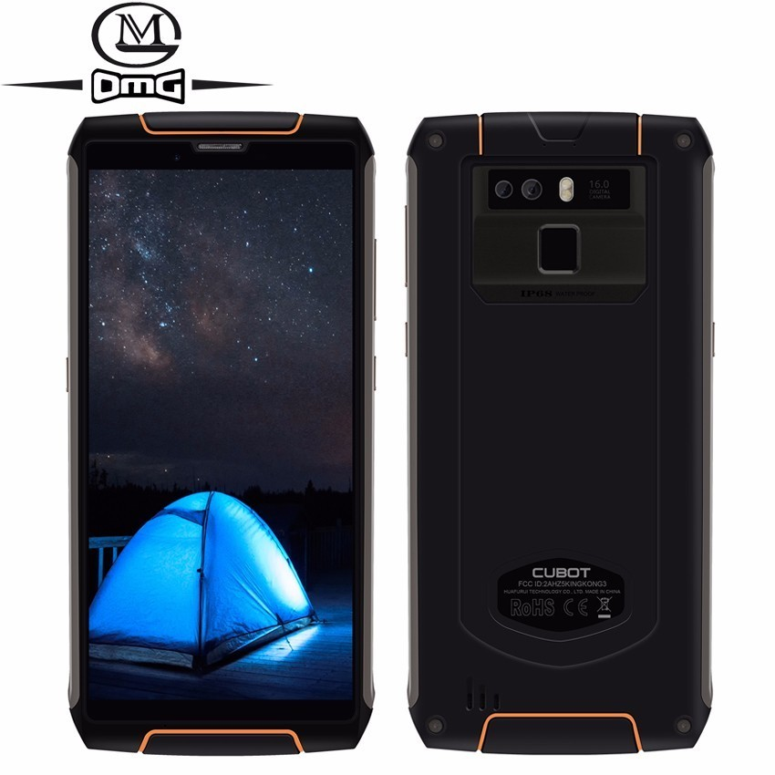 Cubot King Kong 3 IP68 Waterproof shockproof 4G Smartphone Android 8.1 4GB + 64GB Octa Core 5.5 6000mAh 16MP mobile phoneCubot King Kong 3 IP68 Waterproof shockproof 4G Smartphone Android 8.1 4GB + 64GB Octa Core 5.5 6000mAh 16MP mobile phone