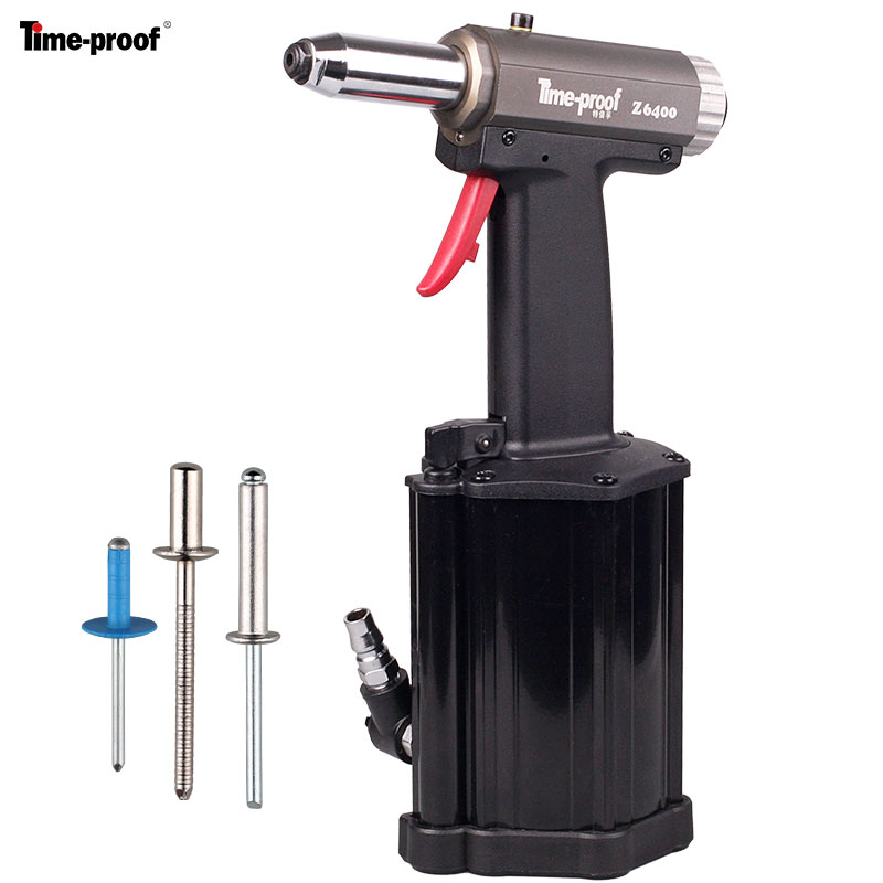 Time proof  up to 6.4mm Z6400 Pneumatic Hydraulic Rivet Gun Riveting Tool Riveter for 4.0 6.4 mm Blind Rivets-in Riveter Guns from Tools    1