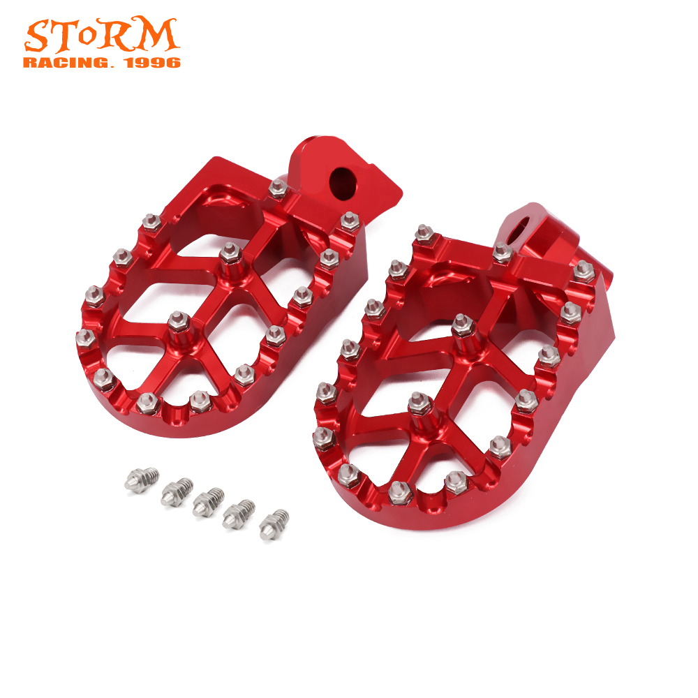 Motorcycle CNC Foot Pegs Footpeg Pedals Rests For Husqvarna SMR TC TE TXC 449 450 510