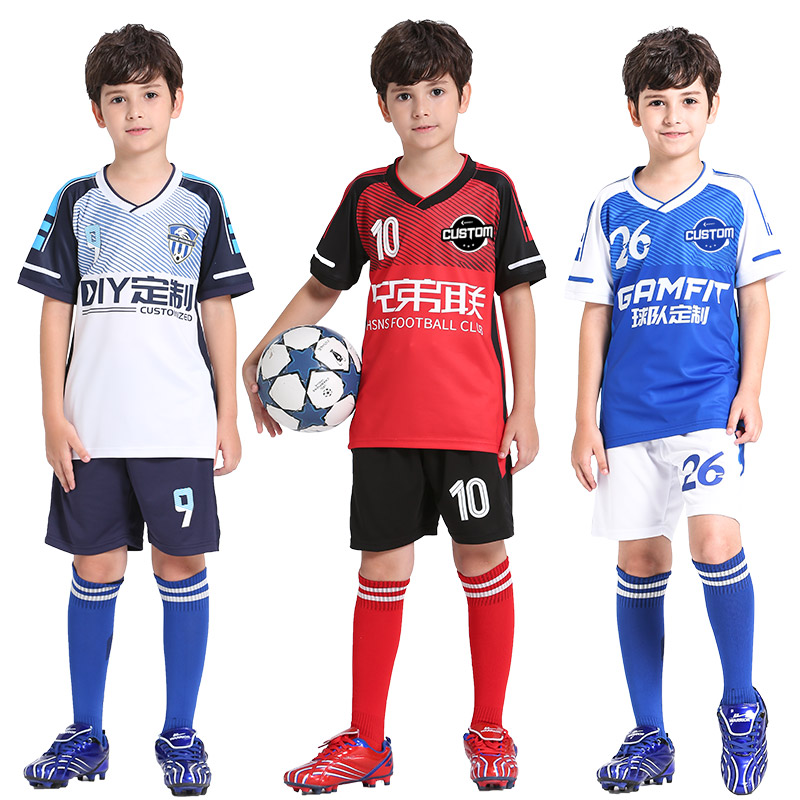 official photos 25afe 06fa9 Football Jersey Kids Personalized Soccer Jerseys Set Custom Soccer Uniform  Survetement Football Uniform Breathable Sport Clothes-in Soccer Sets from  ...
