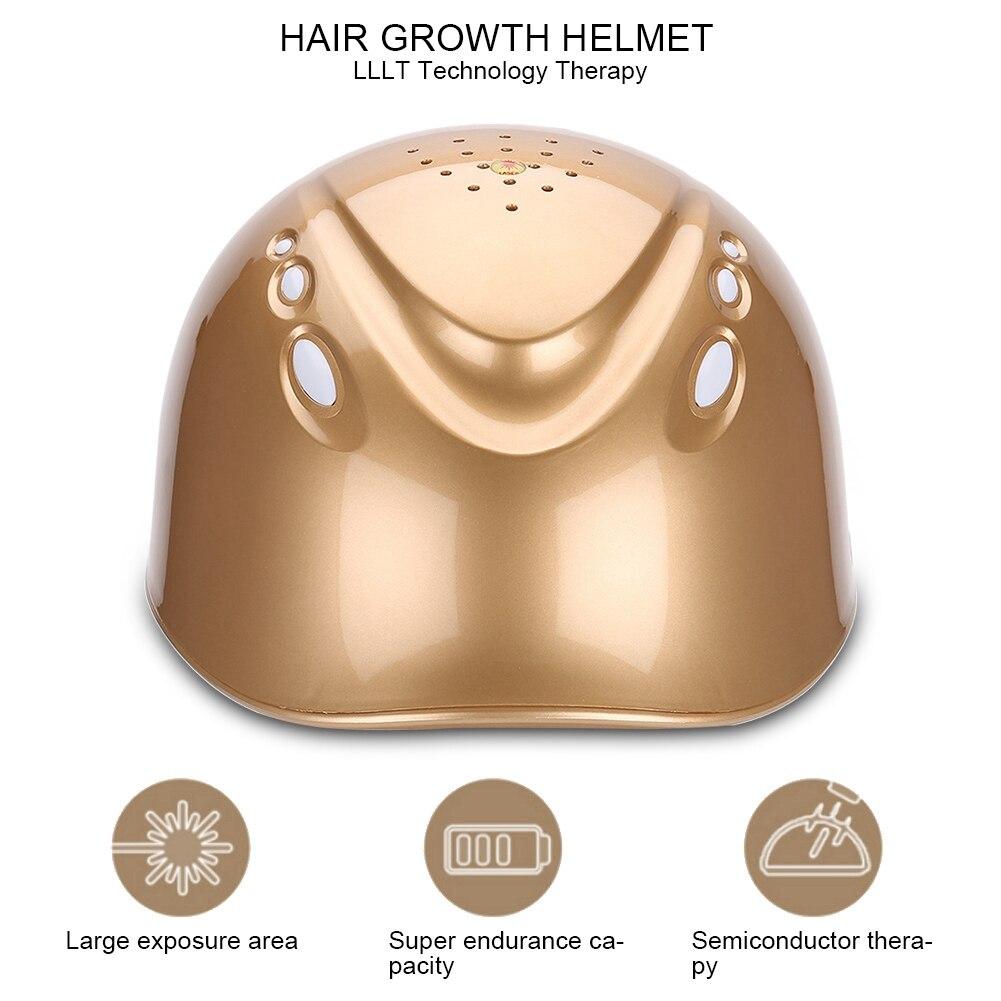 LLLT 160 diodos crecimiento del cabello casco de crecimiento de cabello con láser reducir el gorro para la caída del pelo tratamiento del cabello pelo rápido recrecimiento láser Cap casco - 5