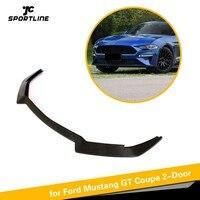Bumper Lip Spoiler For Ford Mustang 2 Door 2018 2019 Carbon Fiber Front Bumper Apron lip