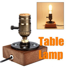 Wooden Electric Retro Classic Desk Bedside Night Lamp Table Lamp Study Bar Coffee Shop Light Indoor Lighting Supplies E27(China)