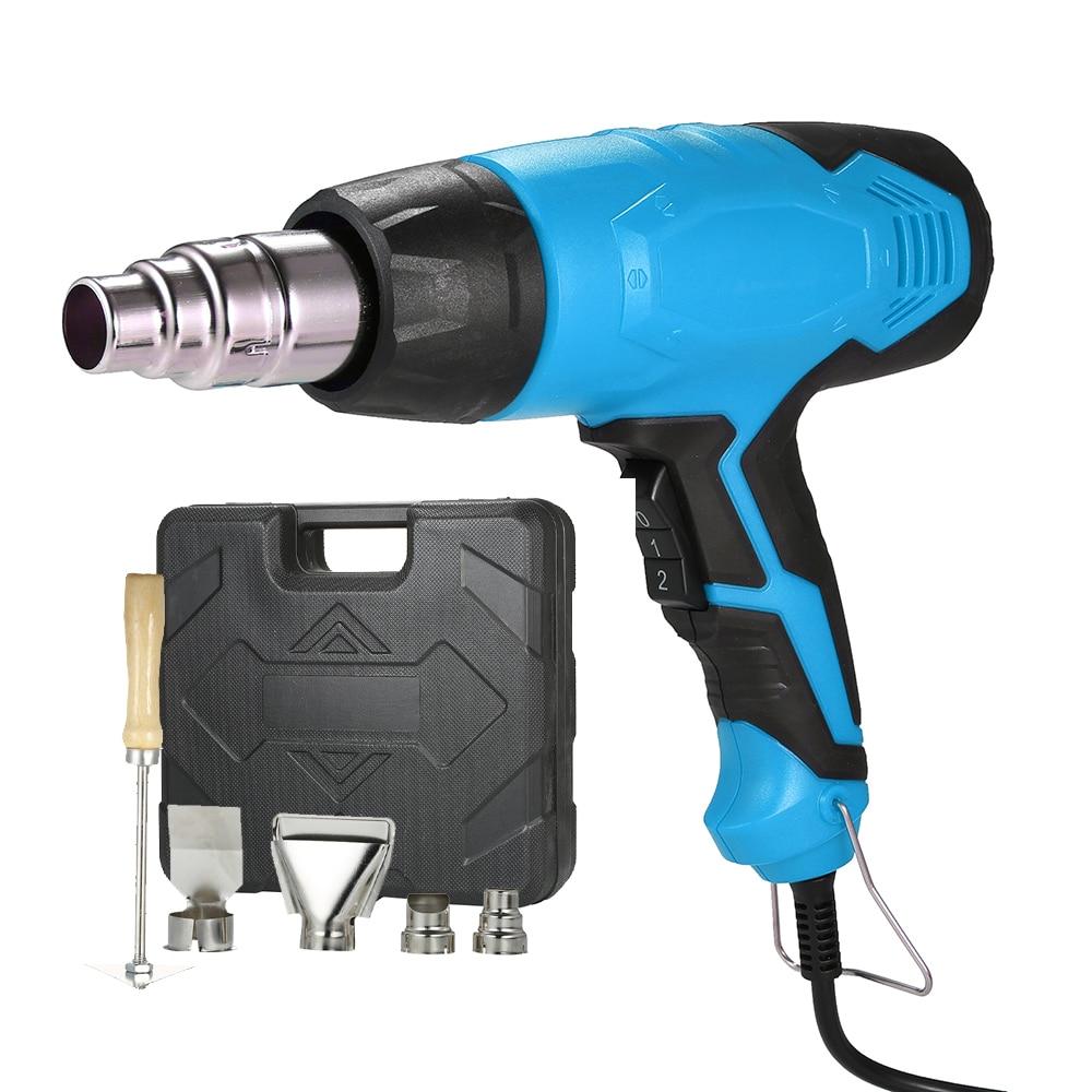 2000W AC220V Electric Hot Air Gun Heat Guns Air Gun Adjustable Heat Gun Tool For Soldering Hair Dryer Building Hot Air Nozzle-in Heat Guns from Tools on