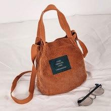 Mobile Phone Canvas single Shoulder bag Makeup Organizer Corduroy Vintage tote handbag Simple girl Student crossbody Bag bag