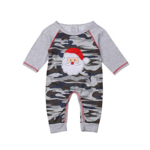 d752b5ac6 Christmas Newborn Baby Boys Girls Clothing Camo Romper Jumpsuit Long Sleeve  Cotton Cute Playsuit Outfits Clothes