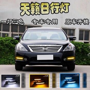 smRKE For Nissan Teana 11-12 Car LED DRL Daytime Running Lights White Driving Light Waterproof Car Styling