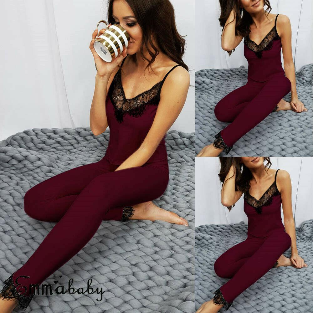 AU Women Vest+Pants   Pajamas     Set   Pyjama Sleepwear Nightwear Loungewear Homewear