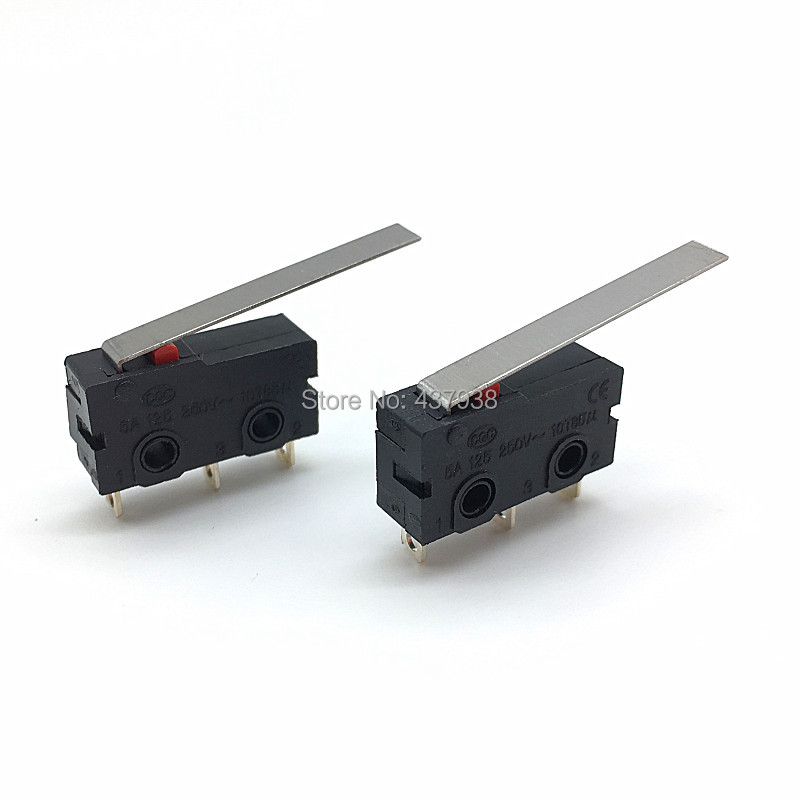 Image 3 - 10PCS Mini Micro Switch Roller ARC Lever SPDT Snap Action 3A 250V AC 5A 125V NC NO C With Pulley 3 Pins Stroke Limit Switch-in Switches from Lights & Lighting