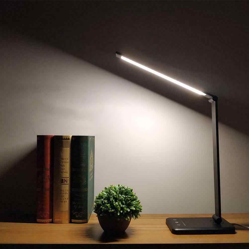 Светодиодный настольный светильник складной с регулируемой яркостью вращающийся Уход за глазами сенсорный контроллер usb зарядный порт настольная лампа Прямая доставка